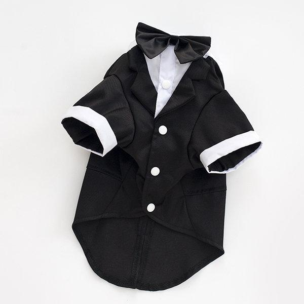 Puppy Clothing Gentleman Mounted Teddy Pet Clothes Small Dog Costume Vest For Pet T-shirts