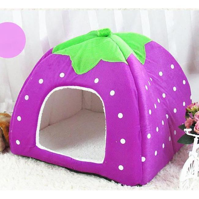 Dog Beds Foldable Cat Dog Kennel Warm Cushion Sponge Pet House Dog Nest