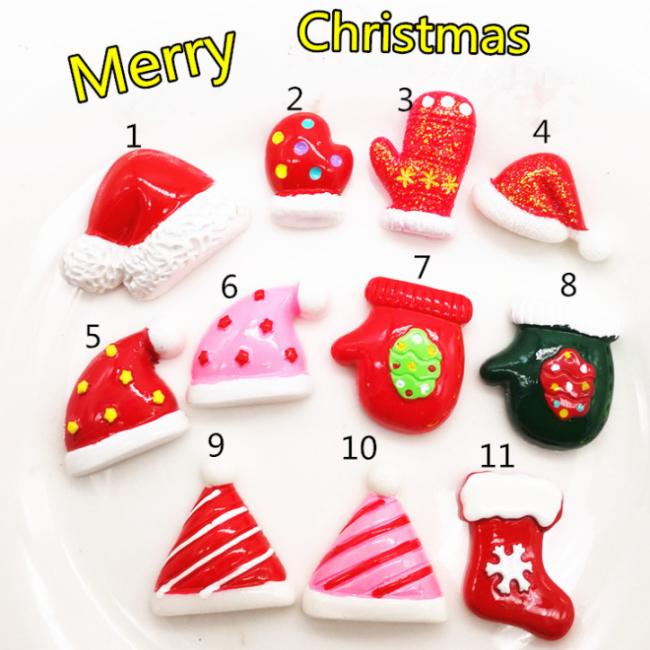100 Pcs Diy Christmas Resin Decorating Accessories