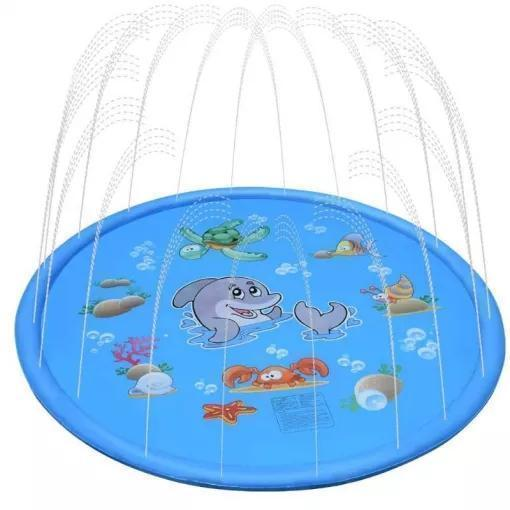 Outdoor Water Spray Pad Lawn Beach Play Game Toy Water Mat