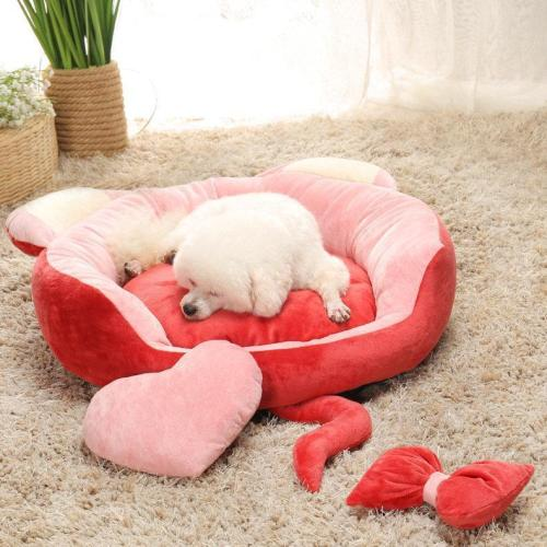 Pet Sleeper Kennel Bed Dog Cat Soft Round Bed
