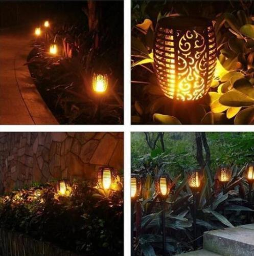 Hot Selling!!!【50%OFF】2019 LED Solar Path Torch Light Dancing Flame