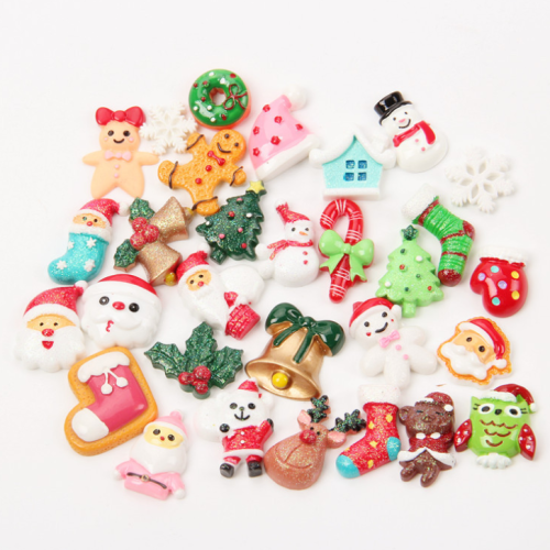 100 Pcs Diy Christmas Resin Decorating Accessories