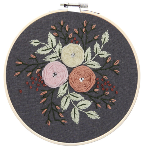 Hand-work Embroidery Plant Pattern Diy Making Material pack
