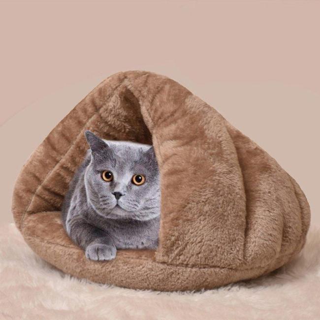 Pet Cat Dog House Nest Kennel Puppy Cave Sleeping Bed Super Soft Mat Pad Warm Nest