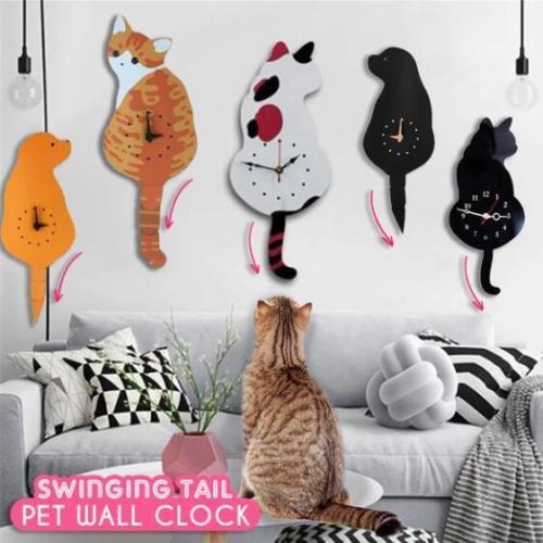 Swinging Tail Pet Wall Clock