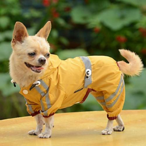 Solid Colored Dog Raincoat Dog Clothes