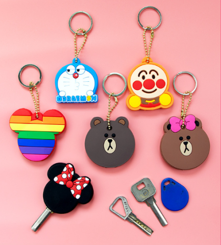 Cartoon silicone keychain, car keychain