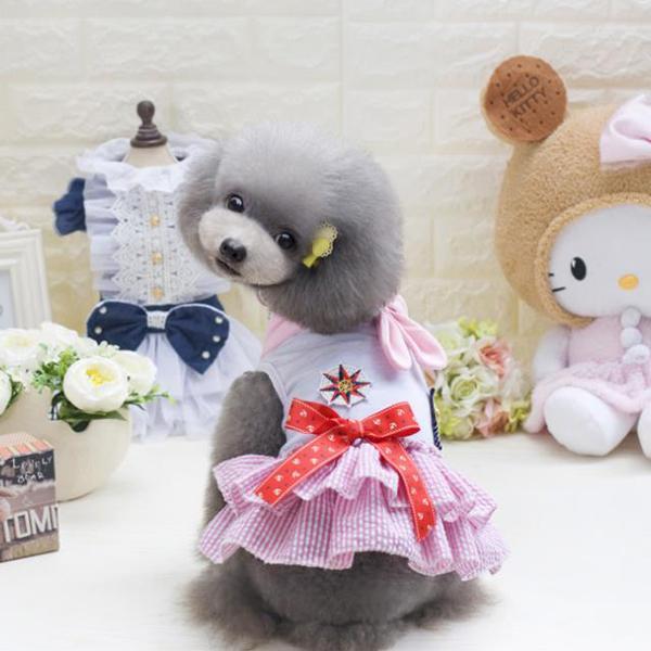 Dog Dress Cartoon Pattern Pet Clothes