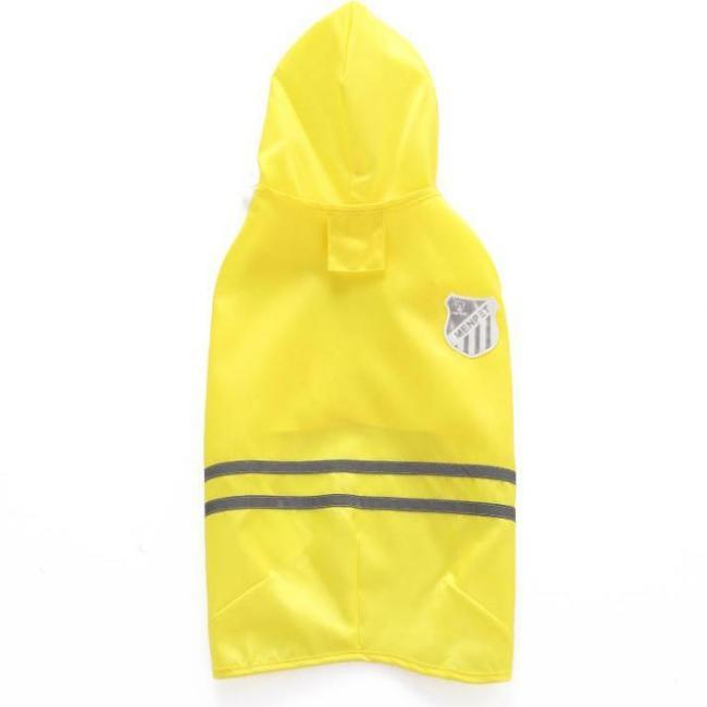 Solid Colored Pet Hoodie Rain Coat Dog Clothes