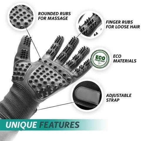 Upgrade Shedding Bathing Massage Pet Grooming Gloves