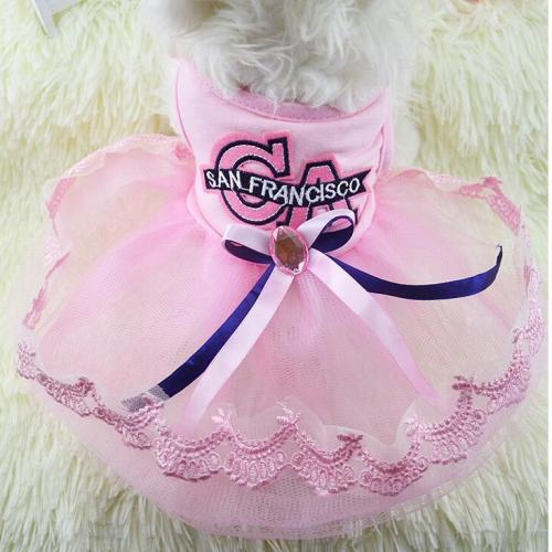 Fashion Solid Colored Dog Dress Dog Clothes