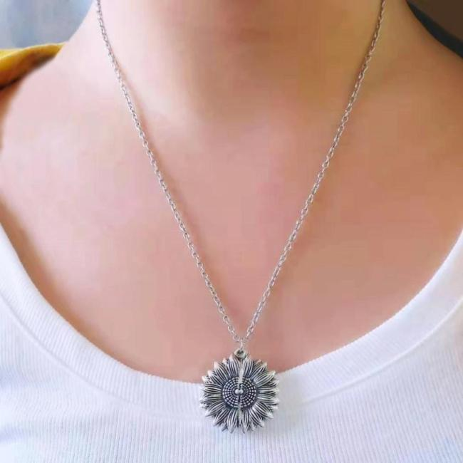Sunflower Necklace + Gift Box