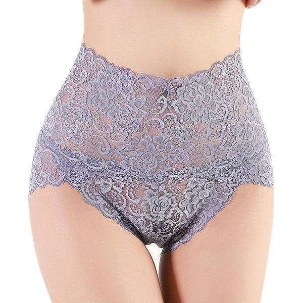 High Waist Lace Cotton Crotch Tummy Shaping Butt Lifter Panty