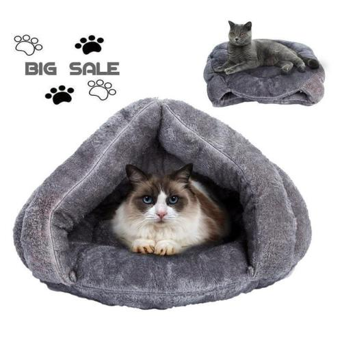 Pet Cat Dog House Nest Kennel Puppy Cave Sleeping Bed Super Soft Mat Pad Warm Nest