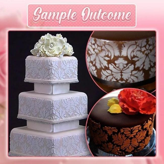 DIY Cake Lace Decoration Mould (3 PCS in 1 SET)