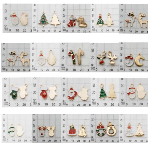 20 Pcs Diy Christma Resin Pendant Decorating Accessories