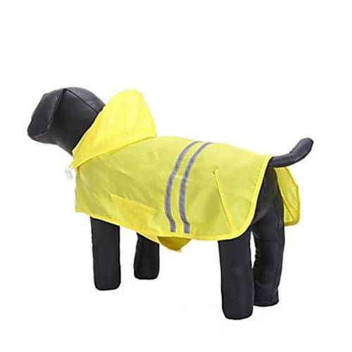 Solid Colored Pet Hoodie Rain Coat Dog Clothes
