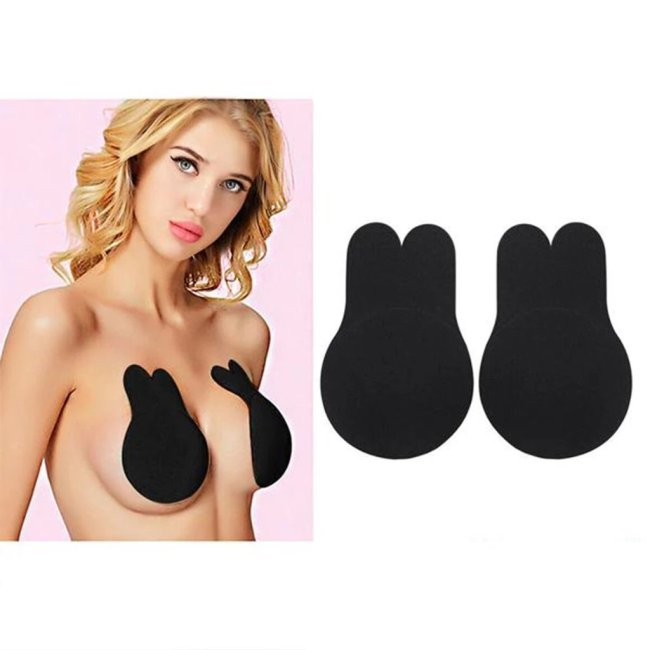 Solid Breast Lifting Adhesive Bra - Flesh