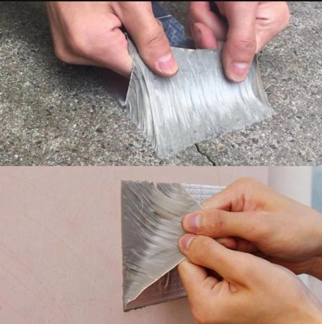 Aluminum Foil Butyl Waterproof Tape(1mm Thick)
