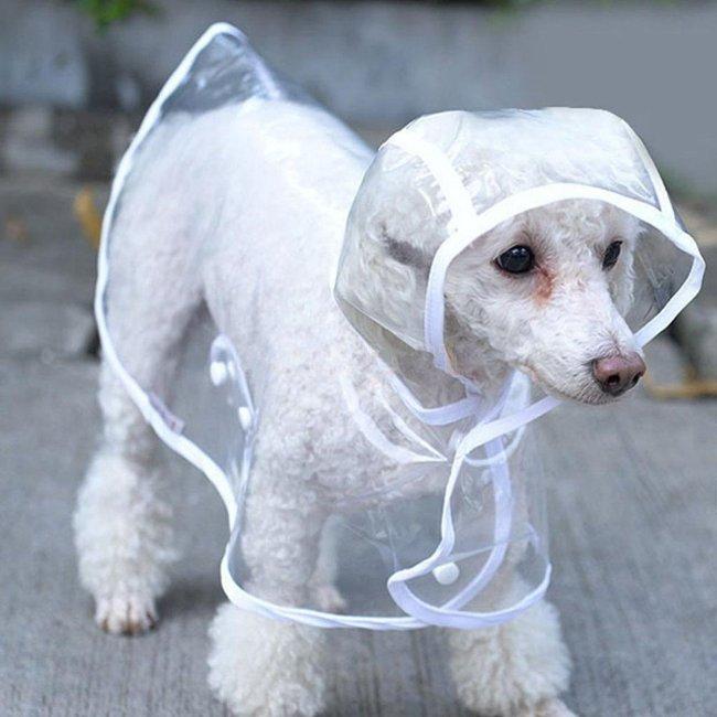 Pet Dog Puppy Rain Coat Clothes Hooded Waterproof Jacket Rainwear XS-XL