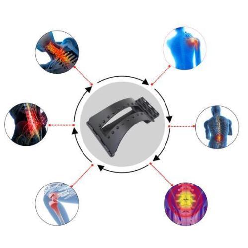 Back Massager Stretcher Fitness Massage Equipment Stretch Relax Stretcher Lumbar Support Spine Pain Relief