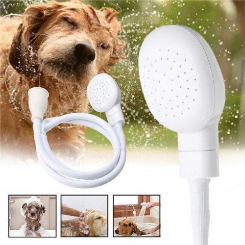 1.2m Dog Shower Head Spray Drains Strainer Pet Bath Hose Sink Washing Hair Pet Hairdresser Shower