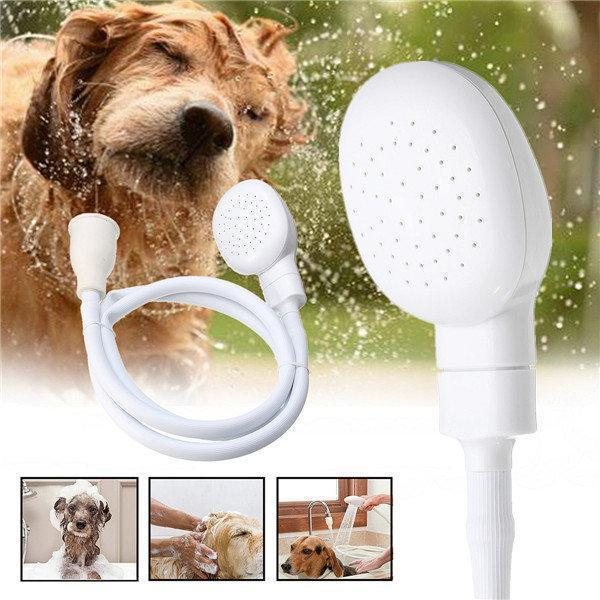 1.2m Dog Shower Head Spray Drains Strainer Pet Bath Hose Sink Washing Hair Pet Hairdresser Shower