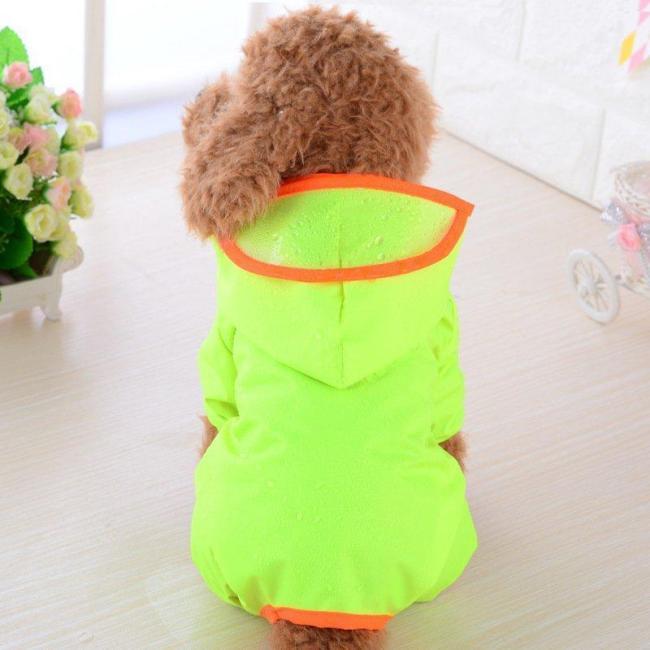 Pet Dog Rain Coat Puppy Waterproof Jacket Hooded Raincoat