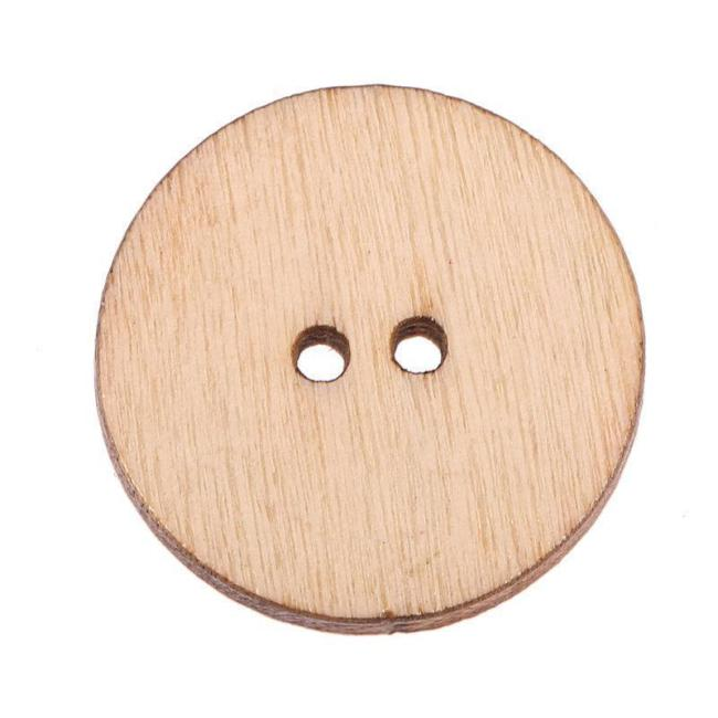 100Pcs Colorful Retro Wooden Sewing Buttons for DIY