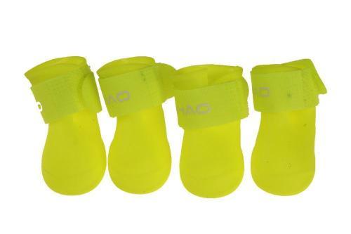 4PCS Fashion Pet Dog Rainshoes Waterproof Rubber Pet Rain Booties