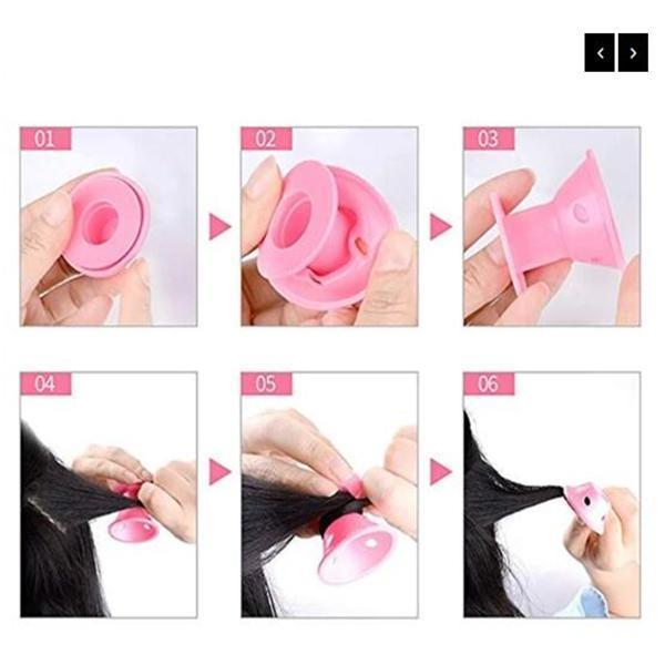 10pcs Heatless Silicone Rollers Hair Curlers DIY Hair Style Small Hair Care Curling Rollers