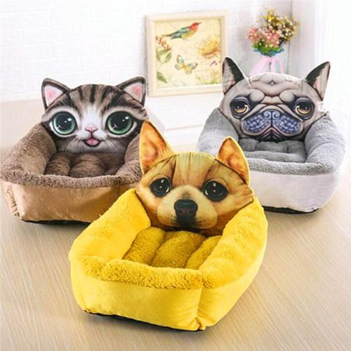 Dog Beds 3D Pet Bed For Dogs Cats Pirate Boat Puppy Warm Sofas kennel Basket Couch Mat