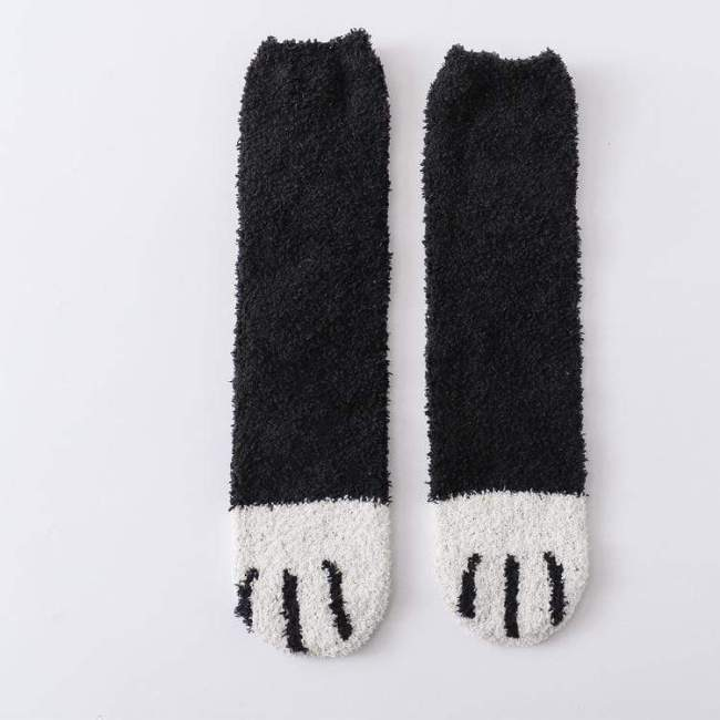 Winter Cat Claws Cute Thick Warm Sleep Floor Socks