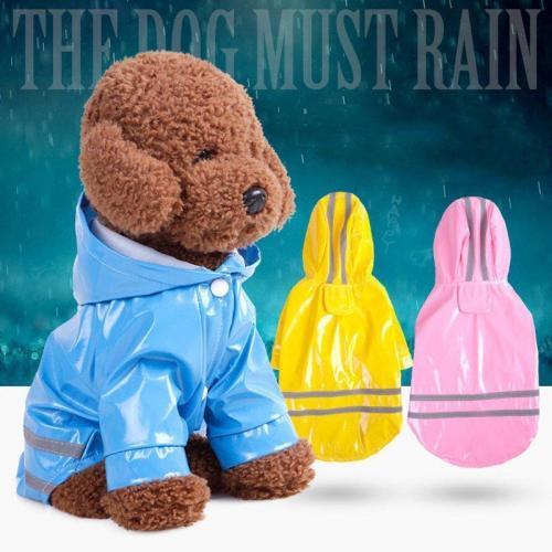 Pet Dog Hooded Raincoat Pet Waterproof Puppy Dog Jacket Outdoor Coat