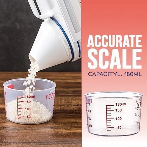 Scale-Assisting Sealed Multigrain Storage Box