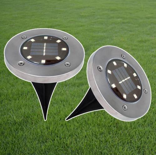 Solar Powered Underground Light Outdoor Lawn Light Garden Lights
