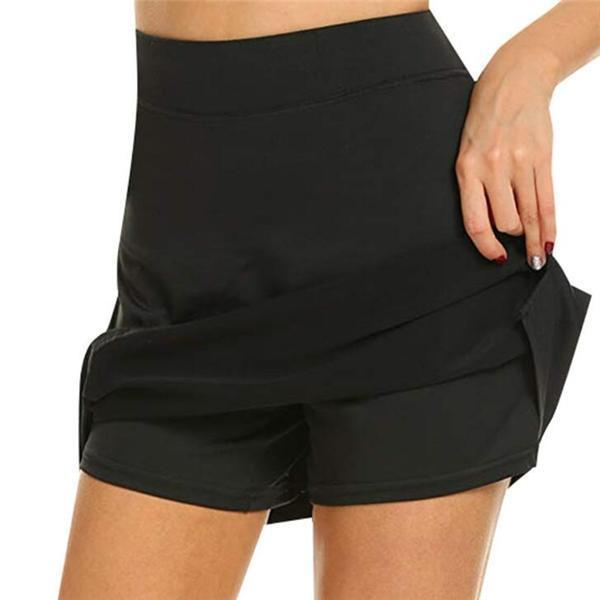 Anti-Chafing Active Elastic Skort With Hidden Pockets-Super Soft & Comfortable