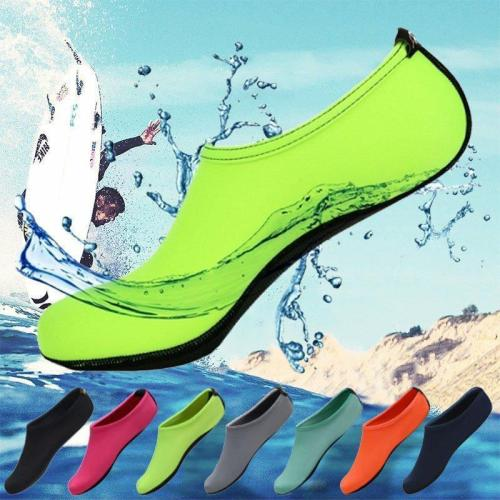 Men Women Skin Water Shoes Aqua Beach Socks - Rubber out sole contains excellent grip