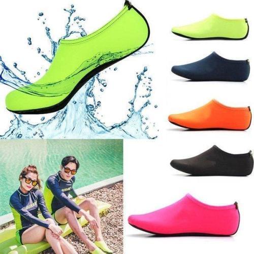 Men Women Skin Water Shoes Aqua Beach Socks - Rubber out sole contains excellent grip