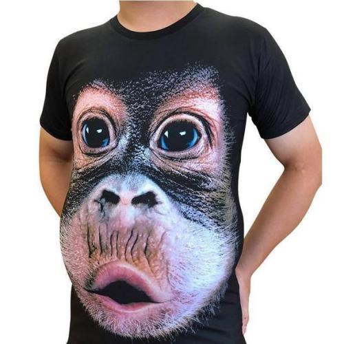 3D Print O-Neck Funny Gorilla T-shirt