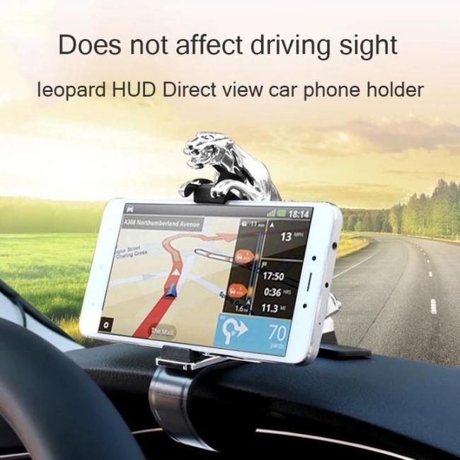 Universal 360° Rotating Car Leopard Phone Clip Holder