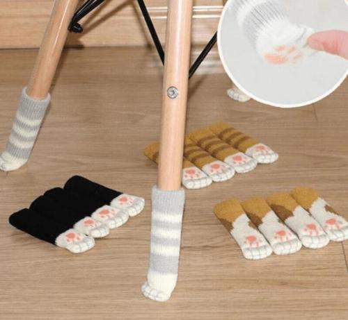 4 pcs Protective Cat Socks for Chairs