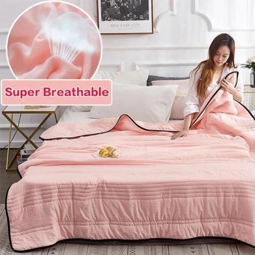 🔥Free Shipping-Comfortable -Healthy Sleep❄️Cool Ice Silk Summer Blanket