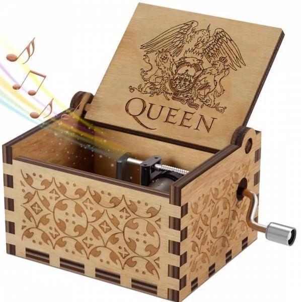 Queen Hand Shake Music Box