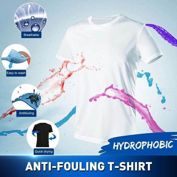 Ice Silk Anti-Dirty Waterproof Quick Dry T-Shirt