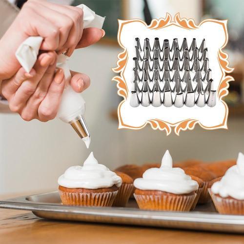 24 Nozzle Cake Decorating Set + Pastry Bag