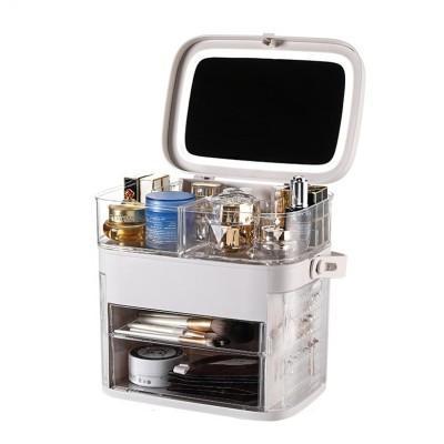 Makeup Storage Box&Mirror
