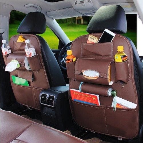 Multi-Pocket Car Seat Back Bag Organizer Storage Phone Cup Tissue Holder