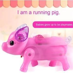 Walking Singing Musical Light Pig Electric Toy
